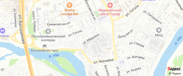 Улица Маршака на карте Улан-Удэ с номерами домов
