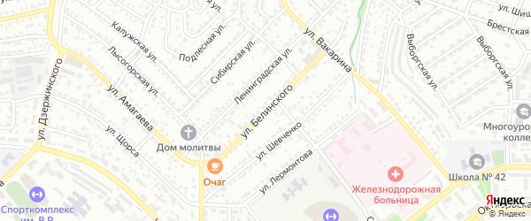 Улица Белинского на карте Улан-Удэ с номерами домов