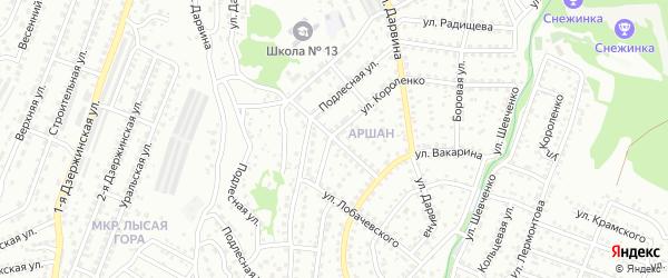 Тульская улица на карте Улан-Удэ с номерами домов