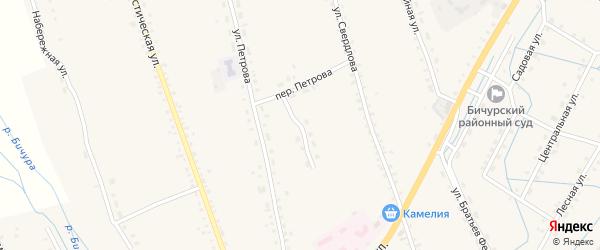 Медицинская улица на карте села Бичура с номерами домов