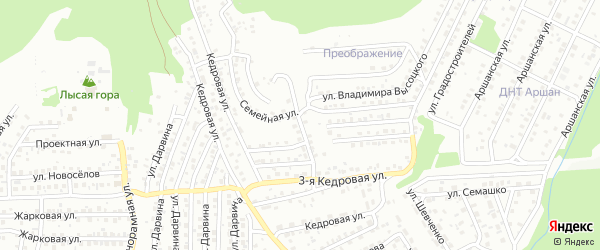 3-я Кедровая улица на карте Улан-Удэ с номерами домов