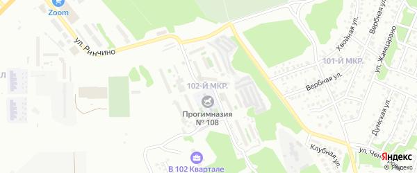 Улица Ринчино на карте Улан-Удэ с номерами домов