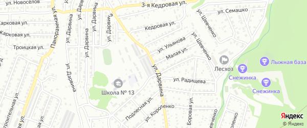 Улица Дарвина на карте Улан-Удэ с номерами домов