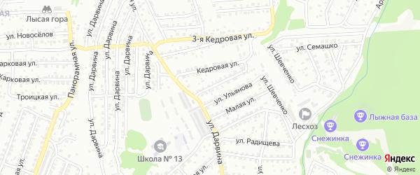 Кедровая улица на карте Улан-Удэ с номерами домов