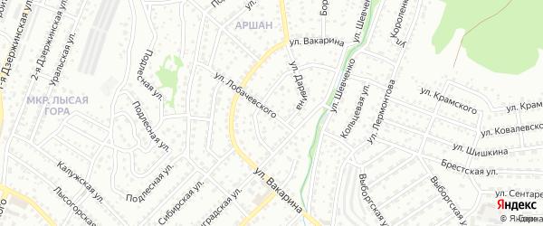 Улица Лобачевского на карте Улан-Удэ с номерами домов