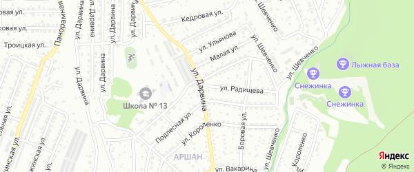 Улица Радищева на карте Улан-Удэ с номерами домов