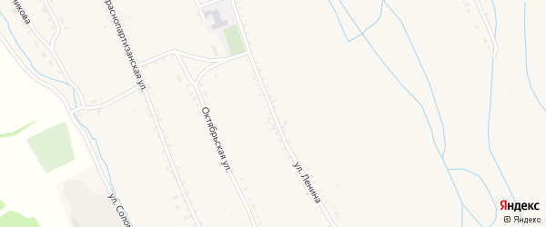 Улица Ленина на карте села Бичура с номерами домов
