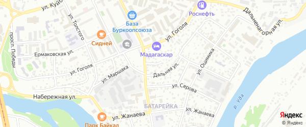Переулок Воровского на карте Улан-Удэ с номерами домов