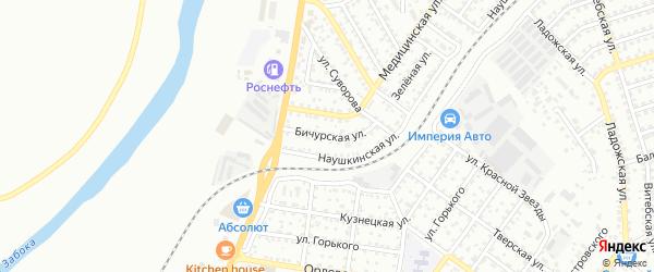 Бичурская улица на карте Улан-Удэ с номерами домов