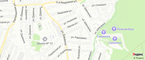 Улица Айвазовского на карте Улан-Удэ с номерами домов