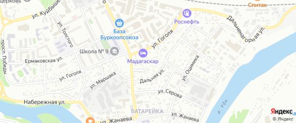 Нагорная улица на карте Улан-Удэ с номерами домов