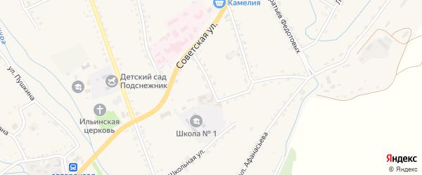 Типографская улица на карте села Бичура с номерами домов