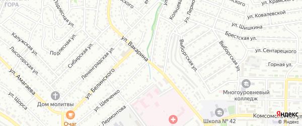 Улица Вакарина на карте Улан-Удэ с номерами домов