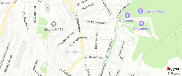 Улица Короленко на карте Улан-Удэ с номерами домов