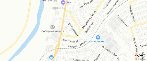 Улица Суворова на карте Улан-Удэ с номерами домов