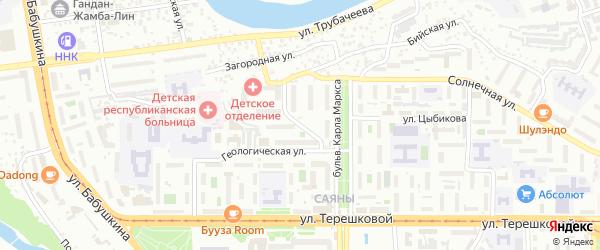 Карьерная улица на карте Улан-Удэ с номерами домов