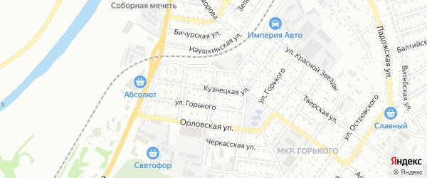 Кузнецкая улица на карте Улан-Удэ с номерами домов