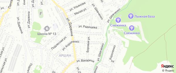 Боровая улица на карте Улан-Удэ с номерами домов