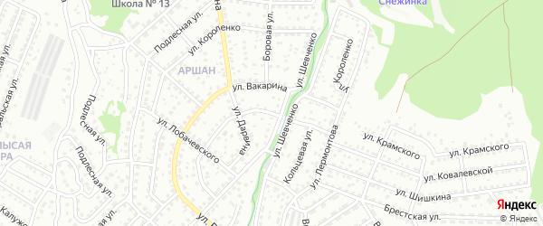 Кольцевая улица на карте Улан-Удэ с номерами домов
