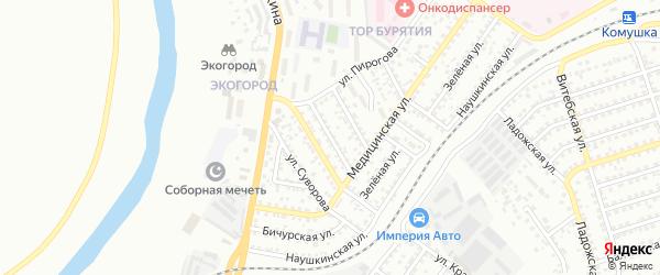 Техническая улица на карте Улан-Удэ с номерами домов