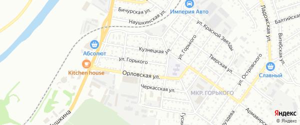 Улица Горького на карте Улан-Удэ с номерами домов