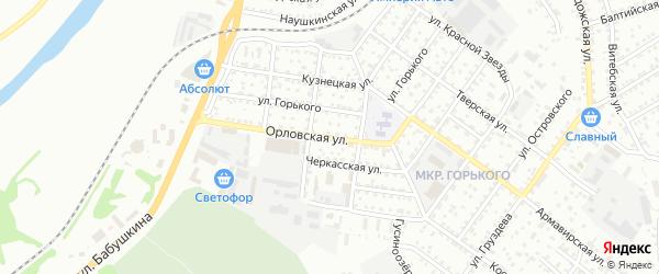 Орловская улица на карте Улан-Удэ с номерами домов