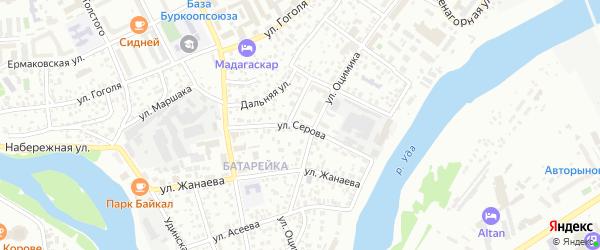 Улица Серова на карте Улан-Удэ с номерами домов