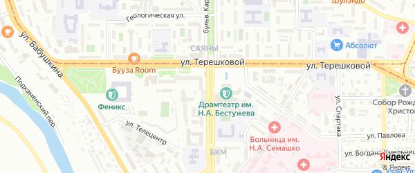 Бульвар Карла Маркса на карте Улан-Удэ с номерами домов