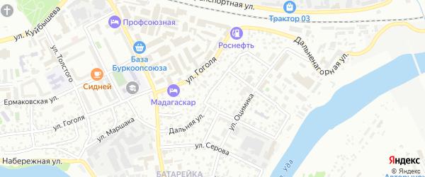 Дальняя улица на карте Улан-Удэ с номерами домов