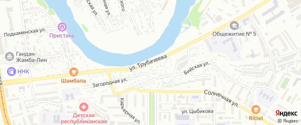 Улица Трубачеева на карте Улан-Удэ с номерами домов