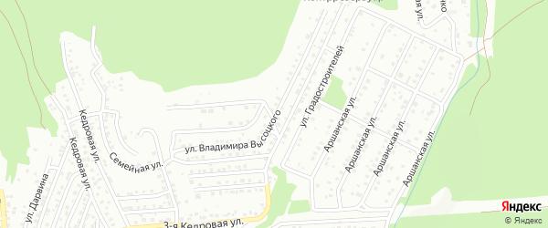 Улица Владимира Высоцкого на карте Улан-Удэ с номерами домов