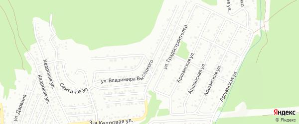Улица Владимира Высоцкого на карте территории ДНТ Почтовой тройки с номерами домов