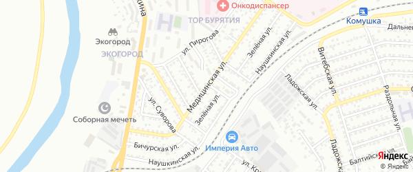 Медицинская улица на карте Улан-Удэ с номерами домов
