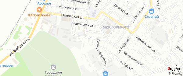 Черкасский переулок на карте Улан-Удэ с номерами домов