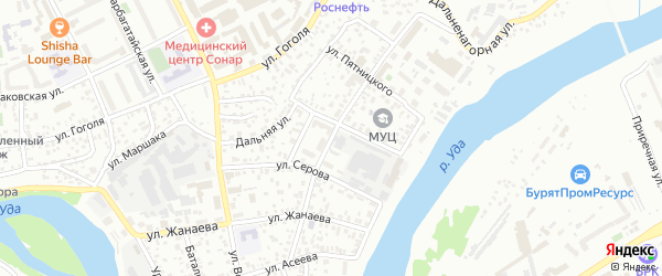 Улица Оцимика на карте Улан-Удэ с номерами домов