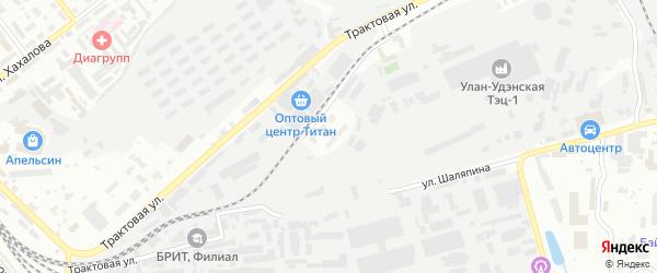 Улица ТЭЦ-1 на карте Улан-Удэ с номерами домов