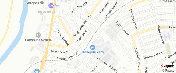 Наушкинская улица на карте Улан-Удэ с номерами домов