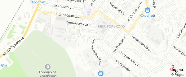 Гусиноозерская улица на карте Улан-Удэ с номерами домов
