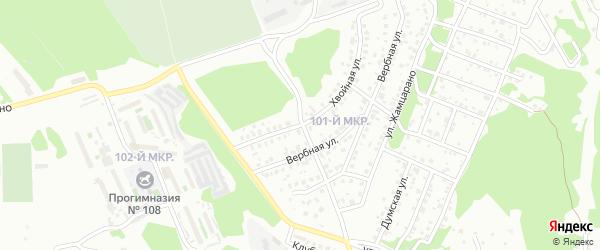 Хвойная улица на карте Улан-Удэ с номерами домов