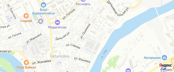 Новокузнецкая улица на карте Улан-Удэ с номерами домов