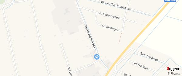 Комсомольская улица на карте села Бичура с номерами домов