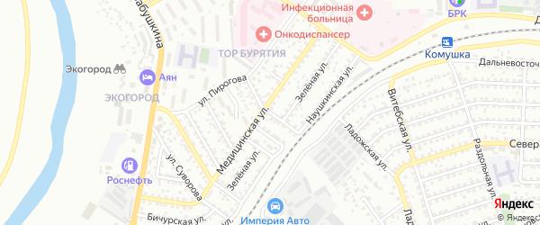 Красноярская улица на карте Улан-Удэ с номерами домов