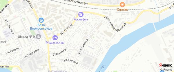 Улица Пятницкого на карте Улан-Удэ с номерами домов