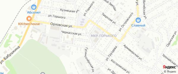 Орловский переулок на карте Улан-Удэ с номерами домов