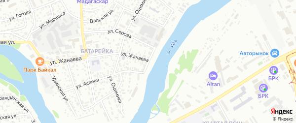 Улица Береговая (ст. Мостовой) на карте Улан-Удэ с номерами домов