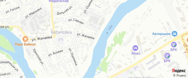 Береговая улица на карте Улан-Удэ с номерами домов
