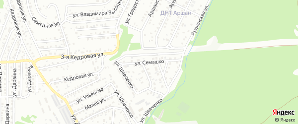 Улица Семашко на карте Улан-Удэ с номерами домов