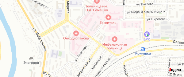 Больничная улица на карте Улан-Удэ с номерами домов