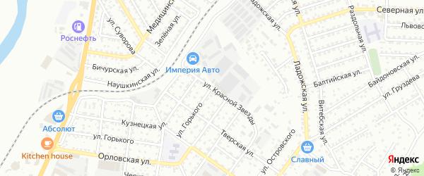 Улица Красной Звезды на карте Улан-Удэ с номерами домов