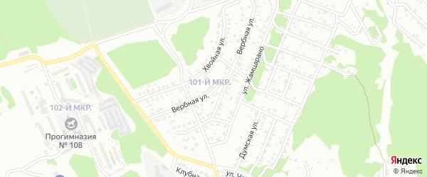 Вербная улица на карте Улан-Удэ с номерами домов